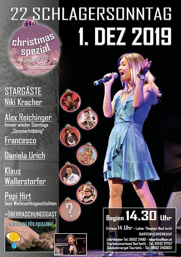 Christmas-Spezial Schlagersonntag am 1. Dez