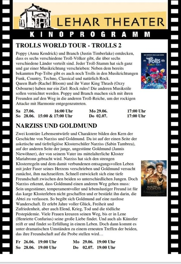 aktuelles Programm Lehar Kino Bad Ischl